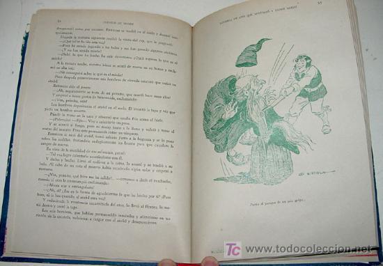 Libros antiguos: ANTIGUO CUENTOS DE GRIMM - ILUSTRACCIONES DE GIMENEZ NIEBLA Y MONSO - ED. MAUCCI - AÑO 1960 - 158 PA - Foto 4 - 18930676