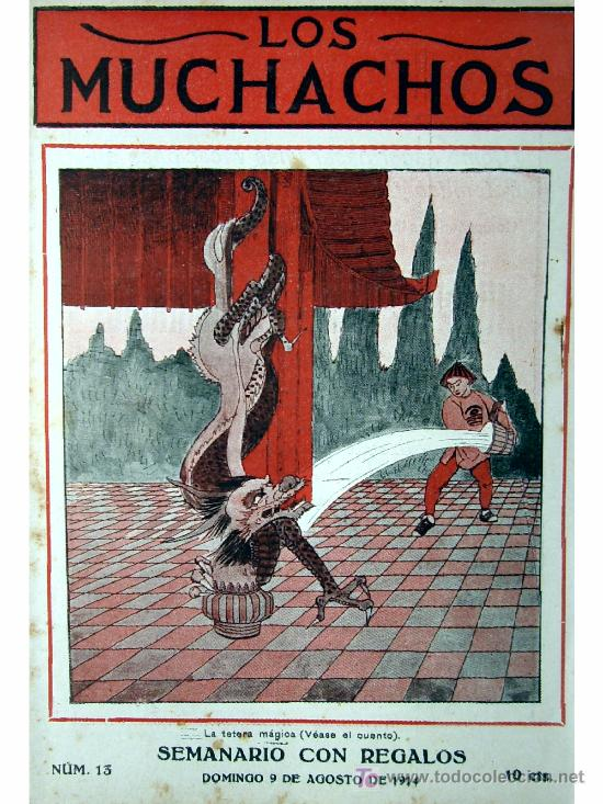 LOS MUCHACHOS -SEMANARIO -DOMINGO 9 DE AGOSTO DE 1914 , NUM.13 (Libros Antiguos, Raros y Curiosos - Literatura Infantil y Juvenil - Cuentos)