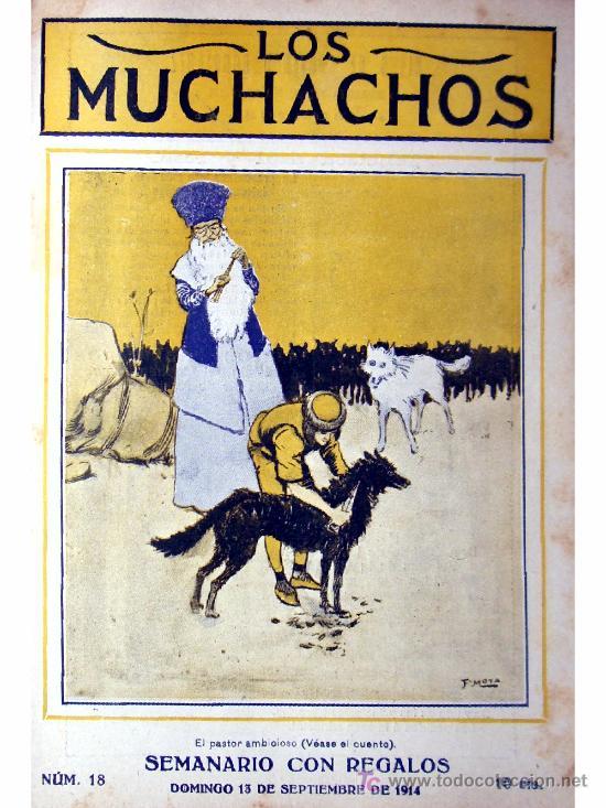 LOS MUCHACHOS -SEMANARIO -DOMINGO 13 DE SEPTIEMBRE DE 1914 , NUM.18 (Libros Antiguos, Raros y Curiosos - Literatura Infantil y Juvenil - Cuentos)