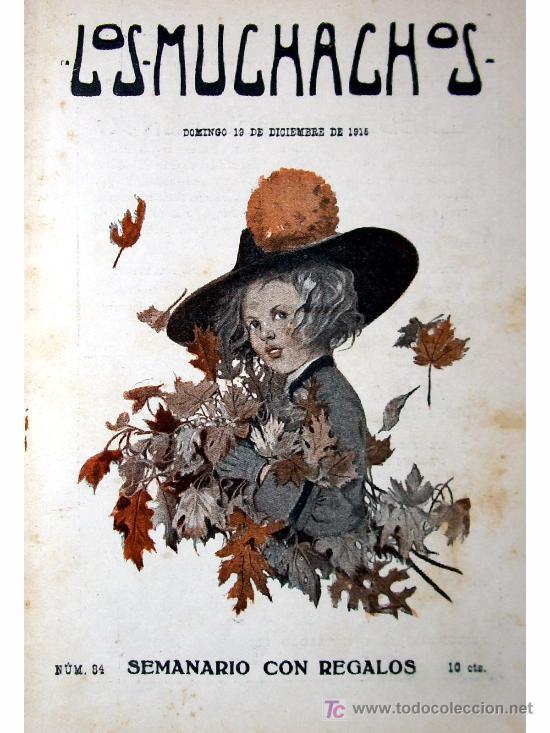 LOS MUCHACHOS -SEMANARIO -DOMINGO 19 DE DICIEMBRE DE 1915 , NUM.84 (Libros Antiguos, Raros y Curiosos - Literatura Infantil y Juvenil - Cuentos)
