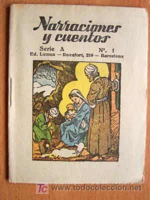 Libros antiguos: NARRACIONES Y CUENTOS SERIE A COMPLETA - 12 EJEMPLARES - EDITORIAL LUMEN SIN FECHA - IMPECABLES - Foto 4 - 25951259