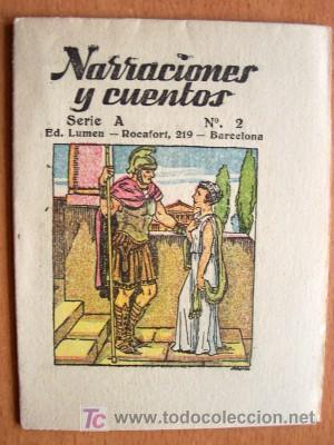 Libros antiguos: NARRACIONES Y CUENTOS SERIE A COMPLETA - 12 EJEMPLARES - EDITORIAL LUMEN SIN FECHA - IMPECABLES - Foto 3 - 25951259