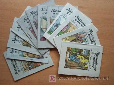 NARRACIONES Y CUENTOS SERIE A COMPLETA - 12 EJEMPLARES - EDITORIAL LUMEN SIN FECHA - IMPECABLES (Libros Antiguos, Raros y Curiosos - Literatura Infantil y Juvenil - Cuentos)
