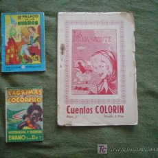 Libros antiguos: LOTE TRES MINICUENTOS ANTIGUOS. Lote 21326667
