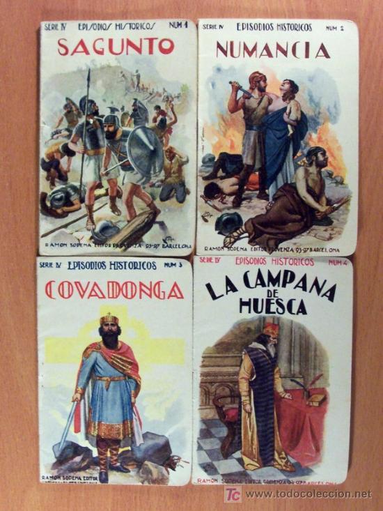 Libros antiguos: LOTE DEL 1 AL 18 SERIE IV EPISODIOS HISTÓRICOS DE RAMÓN SOPENA EDITOR - LOTE - Foto 2 - 26777489