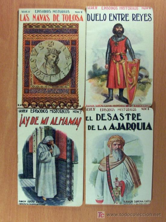 Libros antiguos: LOTE DEL 1 AL 18 SERIE IV EPISODIOS HISTÓRICOS DE RAMÓN SOPENA EDITOR - LOTE - Foto 3 - 26777489