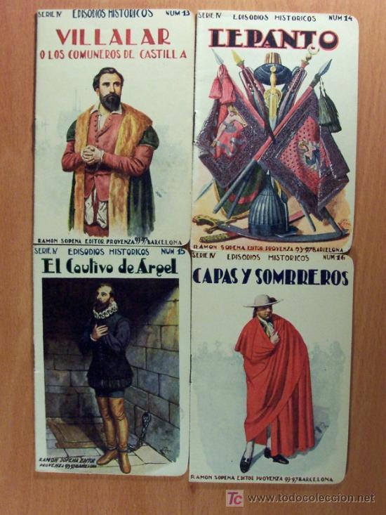 Libros antiguos: LOTE DEL 1 AL 18 SERIE IV EPISODIOS HISTÓRICOS DE RAMÓN SOPENA EDITOR - LOTE - Foto 5 - 26777489