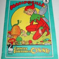 Libros antiguos: ANTIGUO CUENTO ILUSTRADOS CISNE - MARIPOSILLA - COLECCION TURQUESA - MIDE 20 X 14,5 CMS. Lote 5353834
