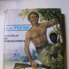 Libros antiguos: ESCUELA DE ROBINSONES, DE JULIO VERNE - EDITORIAL MOLINO. Lote 18908570