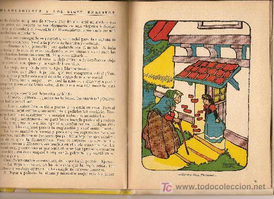 Libros antiguos: Blancanieves y los siete enanitos / Adap. M. Amat; Dib. Salvador Mestres. Barcelona : Bruguera. - Foto 2 - 7644908