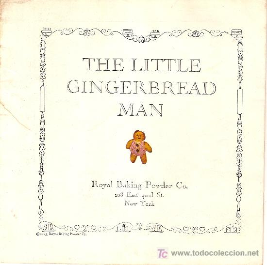 Libros antiguos: The Little Gingerbread Man. New York : Royal Baking Powder Co, 1923. 18x18cm. 14 p. - Foto 2 - 27397802