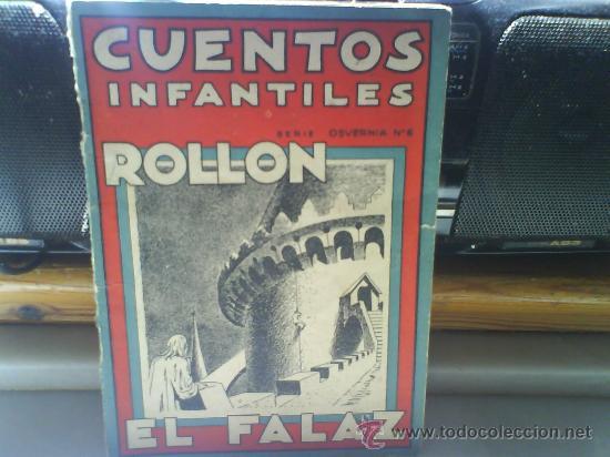 CUENTOS INFANTILES ROLLON EL FALAZ.1939 (Libros Antiguos, Raros y Curiosos - Literatura Infantil y Juvenil - Cuentos)