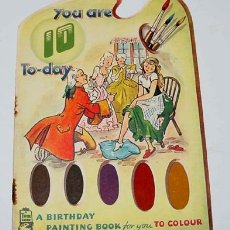 Libros antiguos: ANTIGUO CUENTO INGLES PARA COLOREAR - YOU ARE A BIRTHDAY BOY T.DAY - A BIRTHDAY PAINTING BOOK FOR YO. Lote 8677671