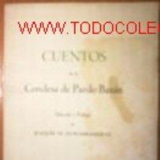 Libros antiguos: CUENTOS DE LA CONDESA DE PARDO BAZAN.1952. Lote 2498199