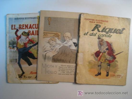 LOTE 3 NUMS CUENTOS ILUSTRADOS PARA NIÑOS RAMON SOPENA (Libros Antiguos, Raros y Curiosos - Literatura Infantil y Juvenil - Cuentos)