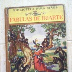 Libros antiguos: BIBLIOTECA PARA NIÑOS-FABULA DE IRIARTE-EDITOR RAMON SOPENA. Lote 24170911