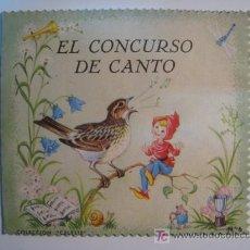 Libros antiguos: CUENTO TROQUELADO EL CONCURSO DE CANTO (ROMA). Lote 10676432