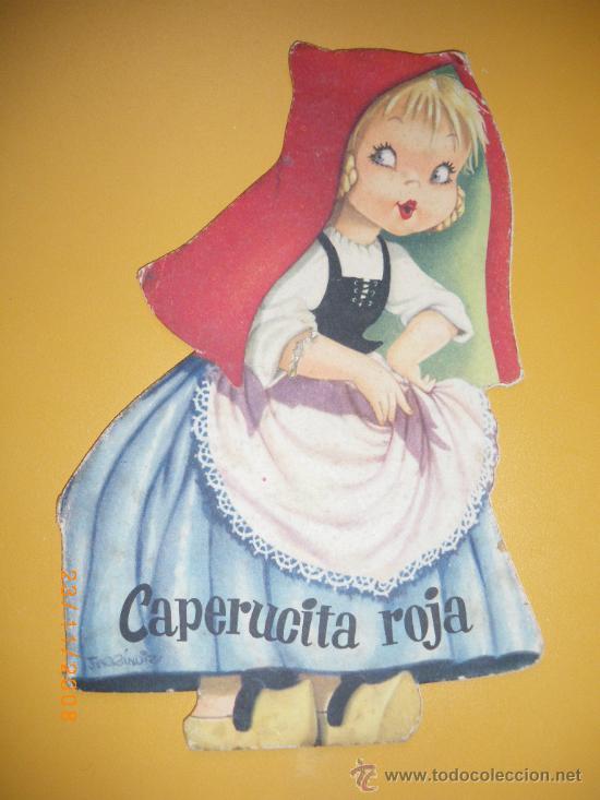 ANTIGUO CUENTO TROQUELADO O CUENTO JUGUETE DE FERRANDIZ - CAPERUCITA ROJA - AÑO 1962 - ED. VILVAR - (Libros Antiguos, Raros y Curiosos - Literatura Infantil y Juvenil - Cuentos)