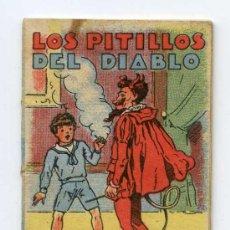 Libros antiguos: CUENTO DE CALLEJA. LOS PITILLOS DEL DIABLO. SERIE XIII, TOMO 247. 16 P. 7 CMS. PUBLICIDAD CONTRAPORT. Lote 24544335