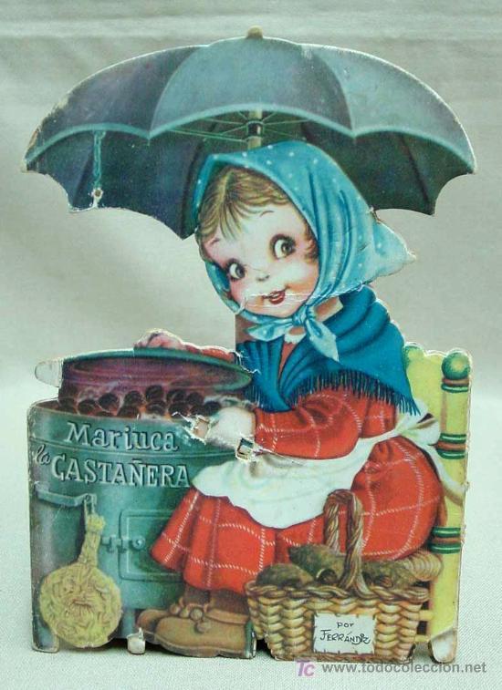 MARIUCA LA CASTAÑERA, CUENTO TROQUELADO, JUAN FERRANDIZ, VILCAR 1952 RARO (Libros Antiguos, Raros y Curiosos - Literatura Infantil y Juvenil - Cuentos)