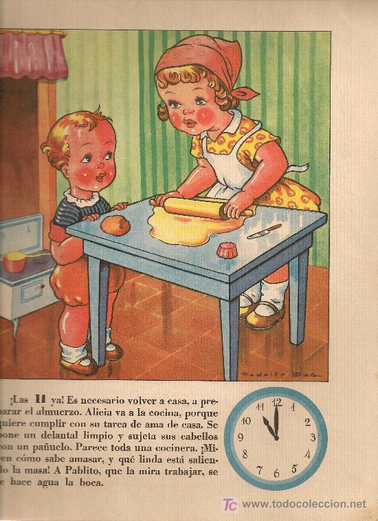 Libros antiguos: El reloj / Rodolfo Dan. Bs As : Sigmar, 1945. 31x25cm. 10 p. - Foto 2 - 16990412