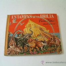 Libros antiguos: ESTAMPAS DE LA BIBLIA PARA NIÑOS. ILUSTRADO POR E. FREIXAS. FALTA ALGUNA PÁGINA. 1958. Lote 18044568