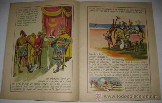 Libros antiguos: ANTIGUO CUENTO ROBINSON CRUSOE - DE LA COLECCION CUENTOS EN COLORES VIII - ED. RAMON SOPENA - DIBUJO - Foto 3 - 18930687