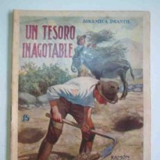Libros antiguos: UN TESORO INAGOTABLE. BIBLIOTECA INFANTIL Nº15. RAMÓN SOPENA. Lote 15381780