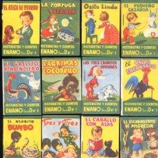 Libros antiguos: 25 CUENTOS.-SERIE D COMPLETA DE LA COLECCIÓN HISTORIAS Y CUENTOS ENANO. Lote 15949662