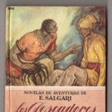 Libri antichi: COLECCION NOVELAS DE AVENTURAS DE EMILIO SALGARI Nº 20. LOS PESCADORES DE PERLAS. ED. CALLEJA MADRID. Lote 80667992