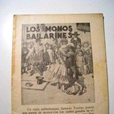 Libros antiguos: LOS MONOS BAILARINES: CUENTOS ILUSTRADOS NIÑOS SOPENA. Lote 16401783