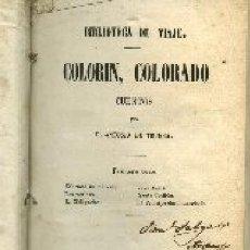 Libros antiguos: TRUEBA,ANTONIO DE,,COLORIN COLORADO, CUENTOS, 1859,MADRID. Lote 19527148