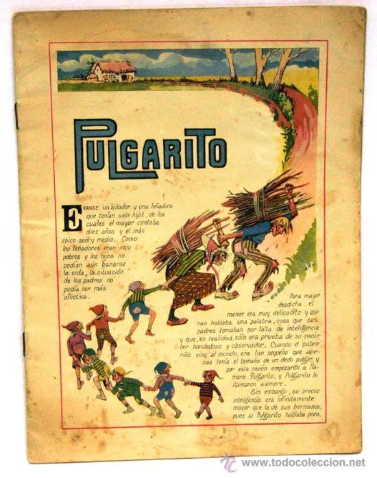 PULGARITO CUENTO RAMÓN SOPENA COLORES Nº DIBUJOS ASHA AÑOS 30 FALTAN TAPAS (Libros Antiguos, Raros y Curiosos - Literatura Infantil y Juvenil - Cuentos)