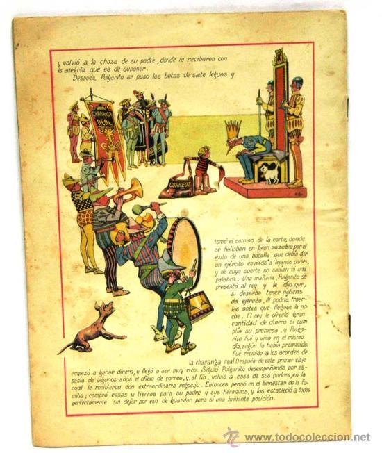 Libros antiguos: Pulgarito cuento Ramón Sopena colores nº Dibujos Asha años 30 faltan tapas - Foto 3 - 16886673