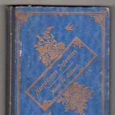 Libri antichi: NARRACIONES INFANTILES POR MARIA DE ECHARRI. LA PALOMITA AZUL. LIBRERIA DE PERELLO Y VERGES EDITORES. Lote 17755356
