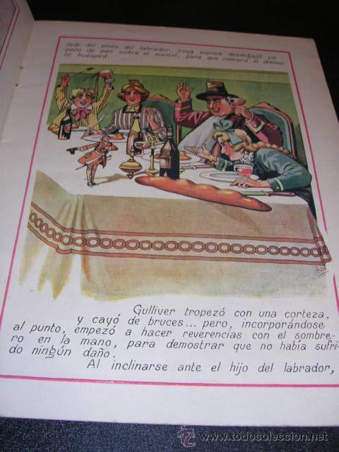 Libros antiguos: GULLIVER EN EL PAIS DE LOS GIGANTES, X- CUENTOS EN COLORES, EDT. RAMON SOPENA, DIBUJOS DE ASHA - Foto 2 - 18209004