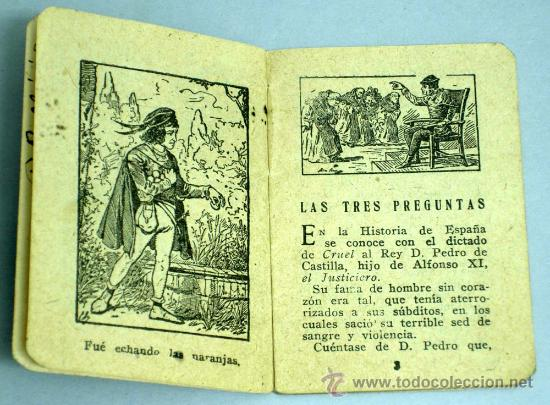 Libros antiguos: Las tres preguntas Cuento Saturnino Calleja Serie VI Tomo 105 6,5 cm x 5,5 cm - Foto 3 - 18756067