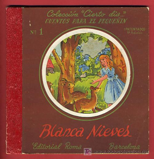 CUENTO BLANCA NIEVES, BLANCANIEVES, TROQUELADO ,EDITORIAL ROMA Nº 1 (Libros Antiguos, Raros y Curiosos - Literatura Infantil y Juvenil - Cuentos)