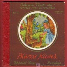 Libros antiguos: CUENTO BLANCA NIEVES, BLANCANIEVES, TROQUELADO ,EDITORIAL ROMA Nº 1. Lote 21037468