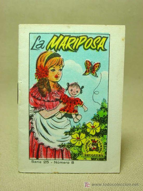 MINICUENTO, CUENTO INFANTIL, LA MARIPOSA, TESORO DE CUENTOS, BRUGUERA, SERIE 25, Nº 8 (Libros Antiguos, Raros y Curiosos - Literatura Infantil y Juvenil - Cuentos)