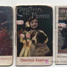 Libros antiguos: LOTE DE 3 CUENTOS (7,5X5) PUBLICIDAD DE CAFÉS DEBRAY Y CHOCOLATE FINO.. Lote 19327845
