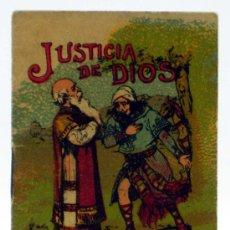 Libros antiguos: JUSTICIA DE DIOS CUENTO SATURNINO CALLEJA SERIE X TOMO 184 6,5 CM X 5,5 CM. Lote 21818734