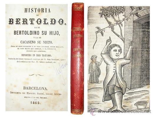 1865 - HISTORIA DE BERTOLDO BERTOLDINO Y CACASENO - LAMINAS (Libros Antiguos, Raros y Curiosos - Literatura Infantil y Juvenil - Cuentos)