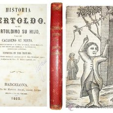 Libros antiguos: 1865 - HISTORIA DE BERTOLDO BERTOLDINO Y CACASENO - LAMINAS. Lote 22398507