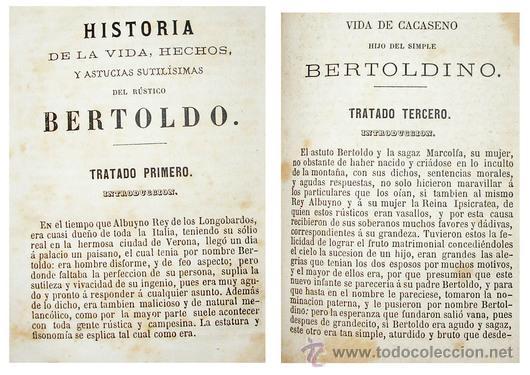 Libros antiguos: 1865 - HISTORIA de BERTOLDO BERTOLDINO Y CACASENO - Laminas - Foto 9 - 22398507