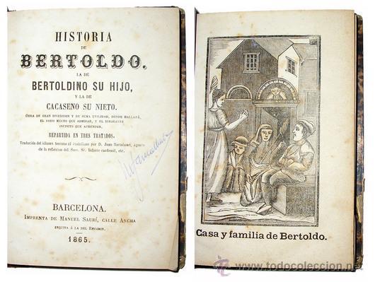 Libros antiguos: 1865 - HISTORIA de BERTOLDO BERTOLDINO Y CACASENO - Laminas - Foto 12 - 22398507