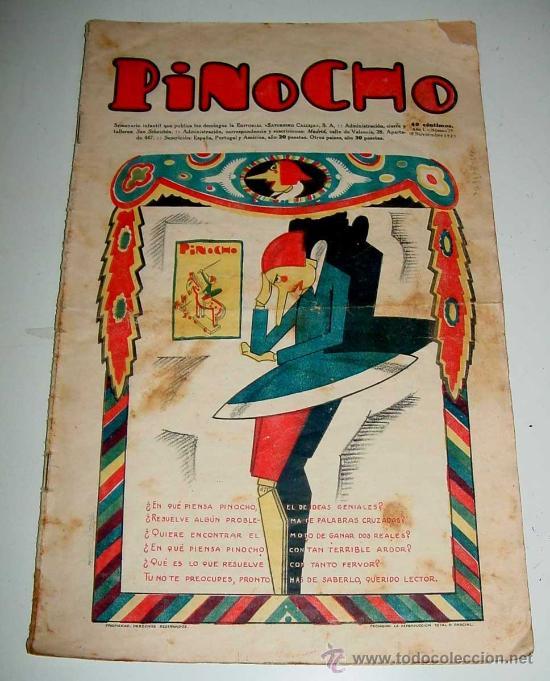 PINOCHO, SEMANARIO INFANTIL NUM. 39 - 15 DE NOVIEMBRE DE 1925 - DIB. POR BARTOLOZZI - ED. SATURNINO (Libros Antiguos, Raros y Curiosos - Literatura Infantil y Juvenil - Cuentos)
