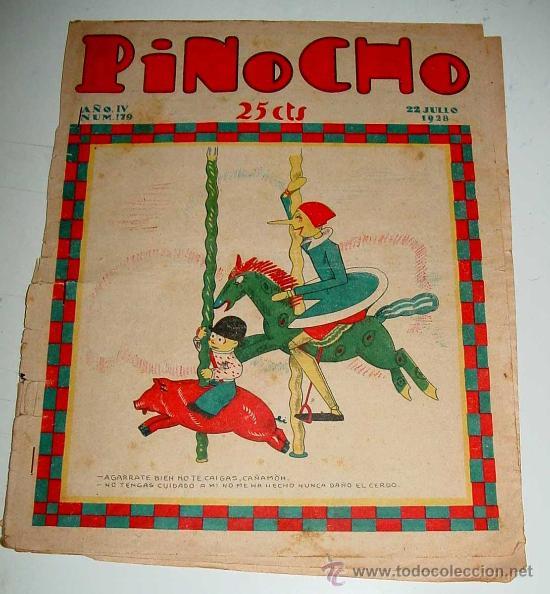 PINOCHO, SEMANARIO INFANTIL NUM. 179 - 22 DE JULIO DE 1928 - DIB. POR BARTOLOZZI - ED. SATURNINO CAL (Libros Antiguos, Raros y Curiosos - Literatura Infantil y Juvenil - Cuentos)