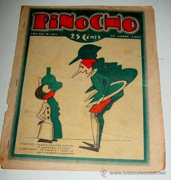 PINOCHO, SEMANARIO INFANTIL NUM. 121 - 12 DE JUNIO DE 1927 - DIB. POR BARTOLOZZI - ED. SATURNINO CAL (Libros Antiguos, Raros y Curiosos - Literatura Infantil y Juvenil - Cuentos)