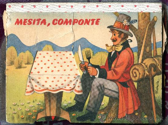 MESITA COMPONTE. CUENTO DESPLEGABLE TROQUELADO (POP-UP). ILUST: KUBASTA. AÑO 1961. (Libros Antiguos, Raros y Curiosos - Literatura Infantil y Juvenil - Cuentos)